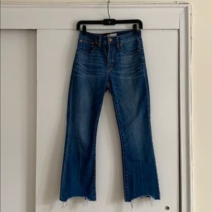 Madewell Cali denim boot jean, size 26